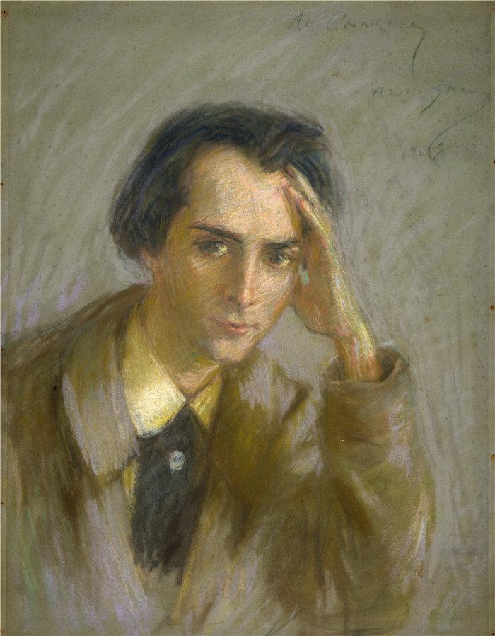爱丽丝·派克·巴尼 (Alice Pike Barney,美国画家)作品-何塞·德·查莫伊 (1908)