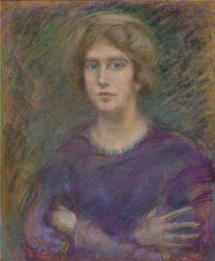 爱丽丝·派克·巴尼 (Alice Pike Barney,美国画家)作品-无题