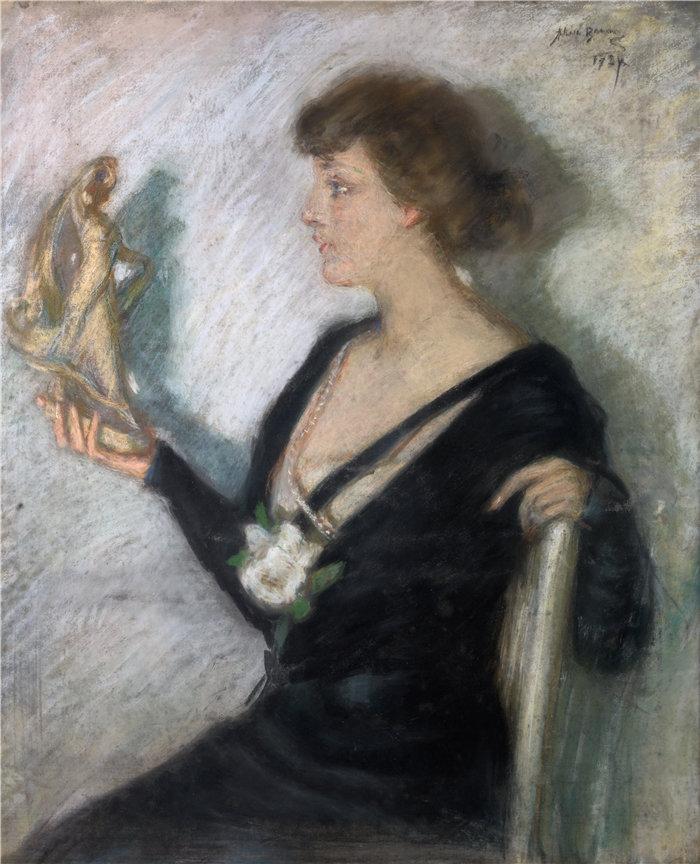 爱丽丝·派克·巴尼 (Alice Pike Barney,美国画家)作品-塔纳格拉图 (1924)