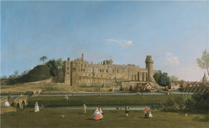 卡纳莱托 (Canaletto,意大利画家)作品-沃里克城堡