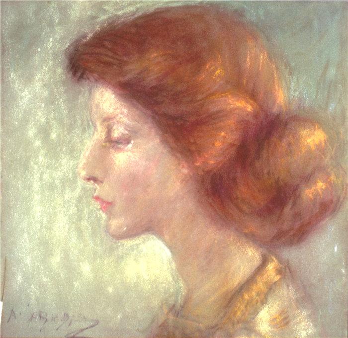 爱丽丝·派克·巴尼 (Alice Pike Barney,美国画家)作品-伊瓦琳娜·科特兰·帕尔默 (1911)
