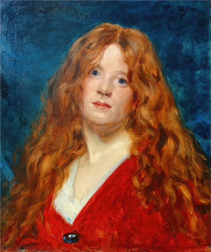 卡洛鲁斯·杜兰(Carolus-Duran,法国画家)作品-鲁斯女性肖像.1876