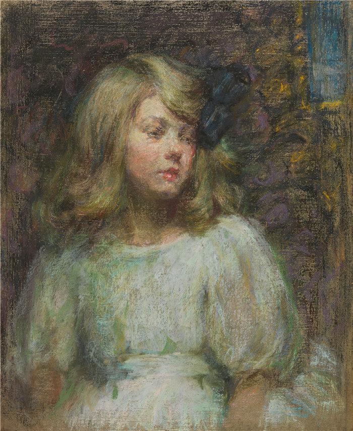 爱丽丝·派克·巴尼 (Alice Pike Barney,美国画家)作品-佩吉 (1910)