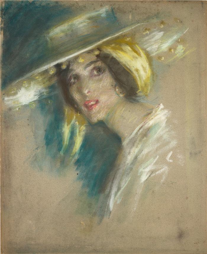 爱丽丝·派克·巴尼 (Alice Pike Barney,美国画家)作品-西班牙幻想 I (Juliet Fremont)