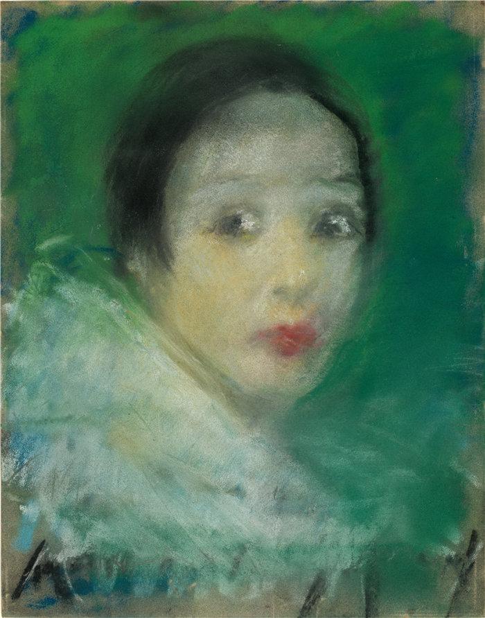 爱丽丝·派克·巴尼 (Alice Pike Barney,美国画家)作品-皮耶特 (1927)