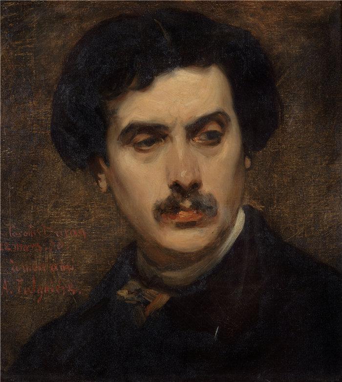 卡洛鲁斯·杜兰(Carolus-Duran,法国画家)作品-亚历山大·法尔吉埃肖像(1870 年)