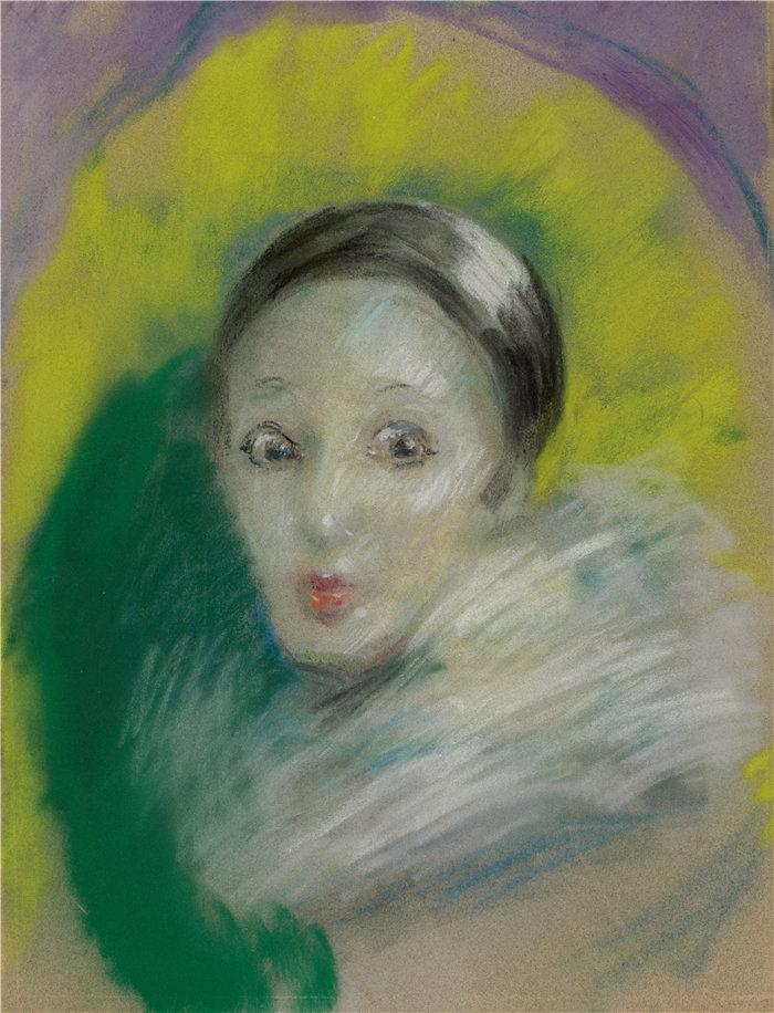 爱丽丝·派克·巴尼 (Alice Pike Barney,美国画家)作品-月亮疯狂 (1928)