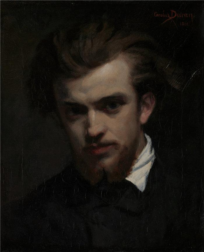 卡洛鲁斯·杜兰(Carolus-Duran,法国画家)作品-亨利·方丹-拉图 (1861)
