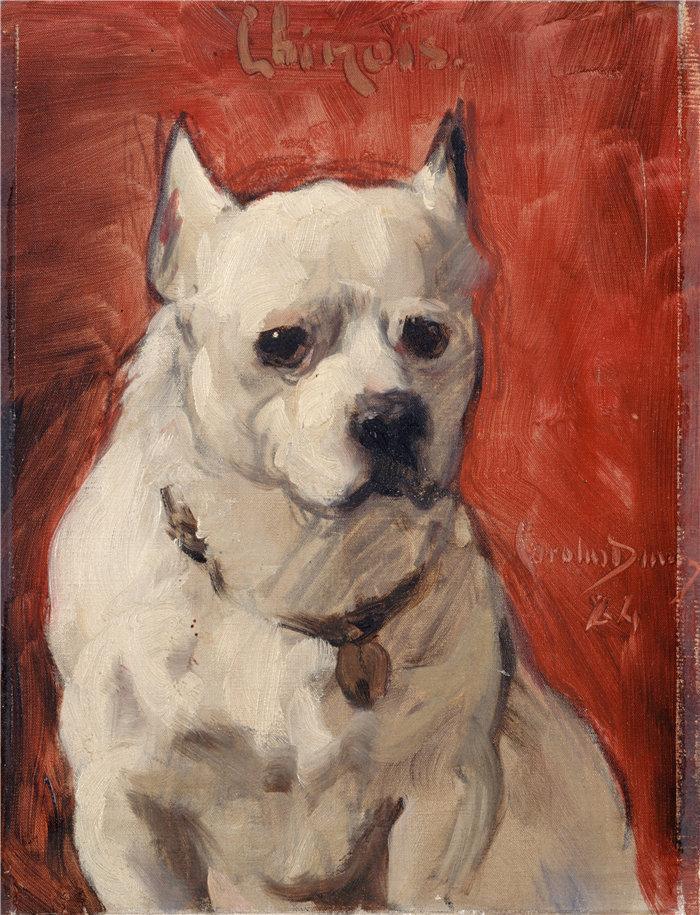 卡洛鲁斯·杜兰(Carolus-Duran,法国画家)作品-狗(1884)
