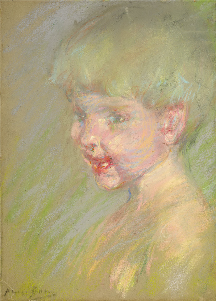 爱丽丝·派克·巴尼 (Alice Pike Barney,美国画家)作品-阳光的光芒(约 1923 年)