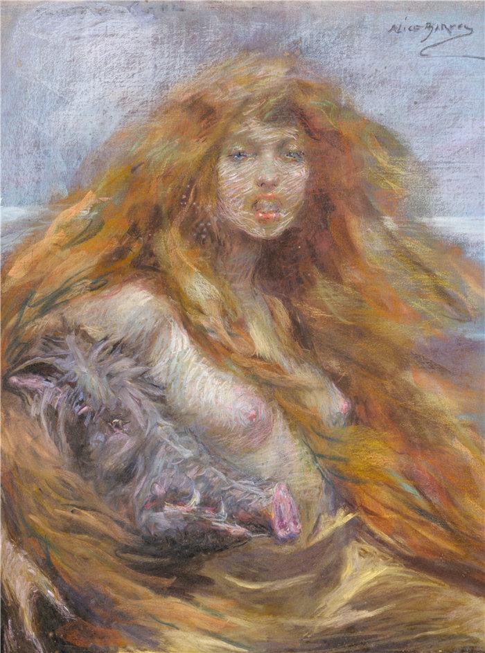 爱丽丝·派克·巴尼 (Alice Pike Barney,美国画家)作品-圆
