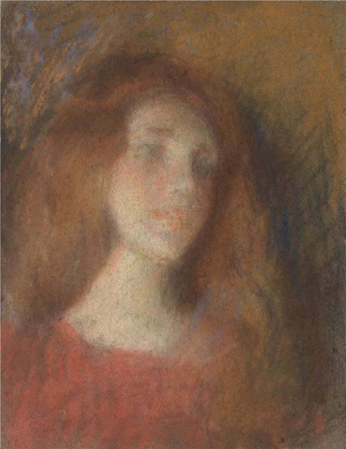 爱丽丝·派克·巴尼 (Alice Pike Barney,美国画家)作品-遐想
