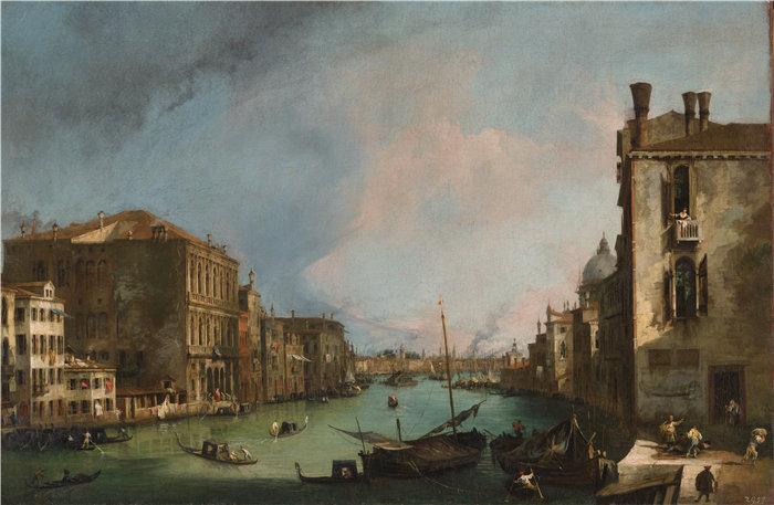 卡纳莱托 (Canaletto,意大利画家)作品-威尼斯大运河与卡格兰德宫角