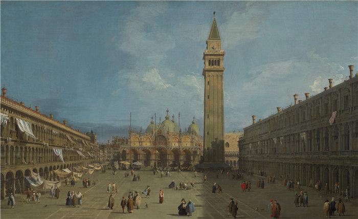 卡纳莱托 (Canaletto,意大利画家)作品-圣马可广场(1720 年代后期)
