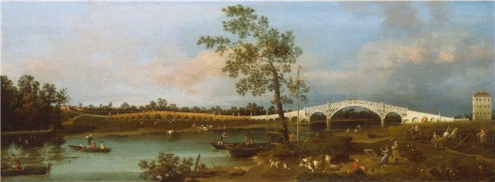 卡纳莱托 (Canaletto,意大利画家)作品-老沃尔顿桥