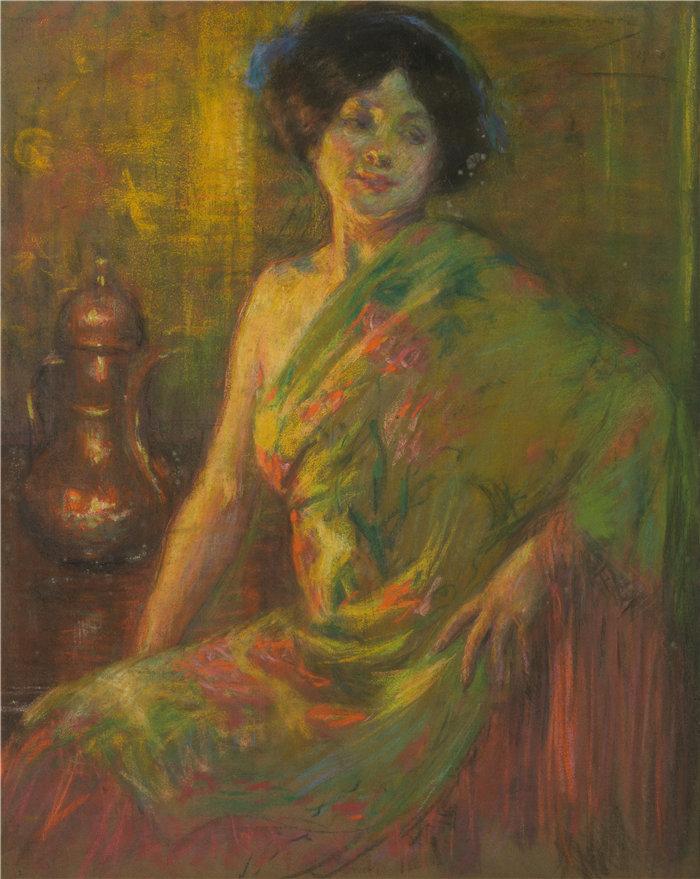 爱丽丝·派克·巴尼 (Alice Pike Barney,美国画家)作品-塞维利亚在蒙马特 (1910)