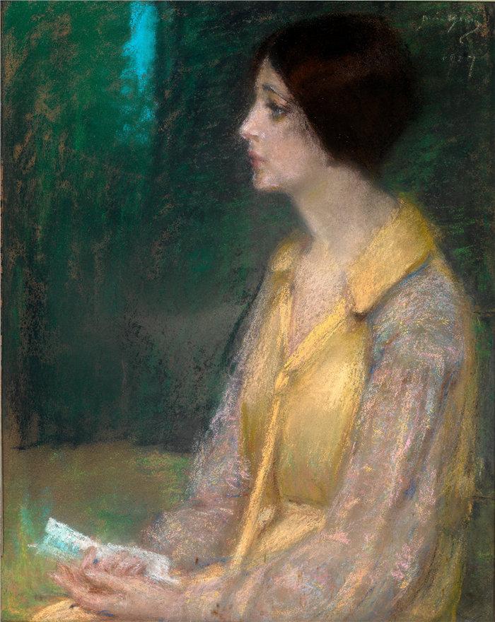 爱丽丝·派克·巴尼 (Alice Pike Barney,美国画家)作品-信 (1927)
