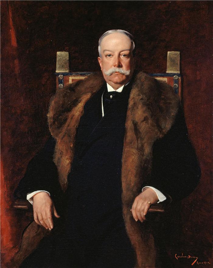 卡洛鲁斯·杜兰(Carolus-Duran,法国画家)作品-奥古斯都·古尼肖像(1910 年)
