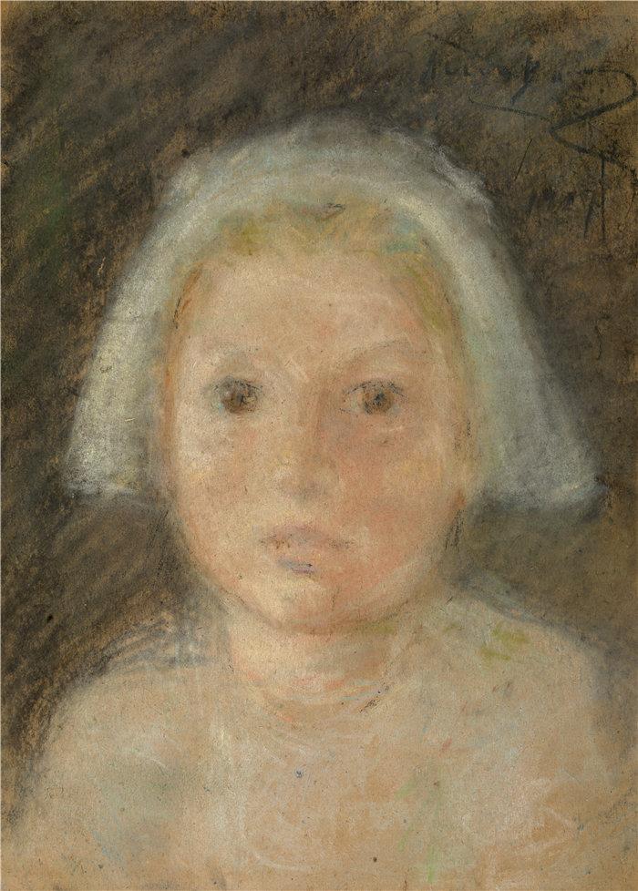 爱丽丝·派克·巴尼 (Alice Pike Barney,美国画家)作品-小白帽 (1927)