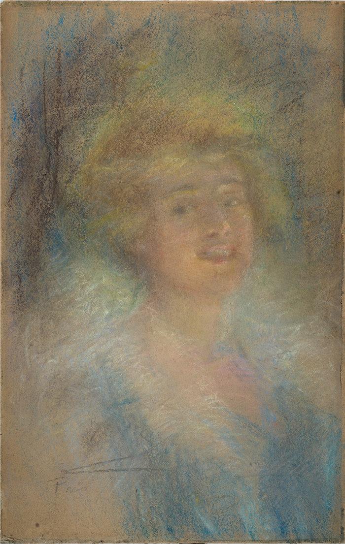 爱丽丝·派克·巴尼 (Alice Pike Barney,美国画家)作品-一个愉快的夜晚(约 1906 年)