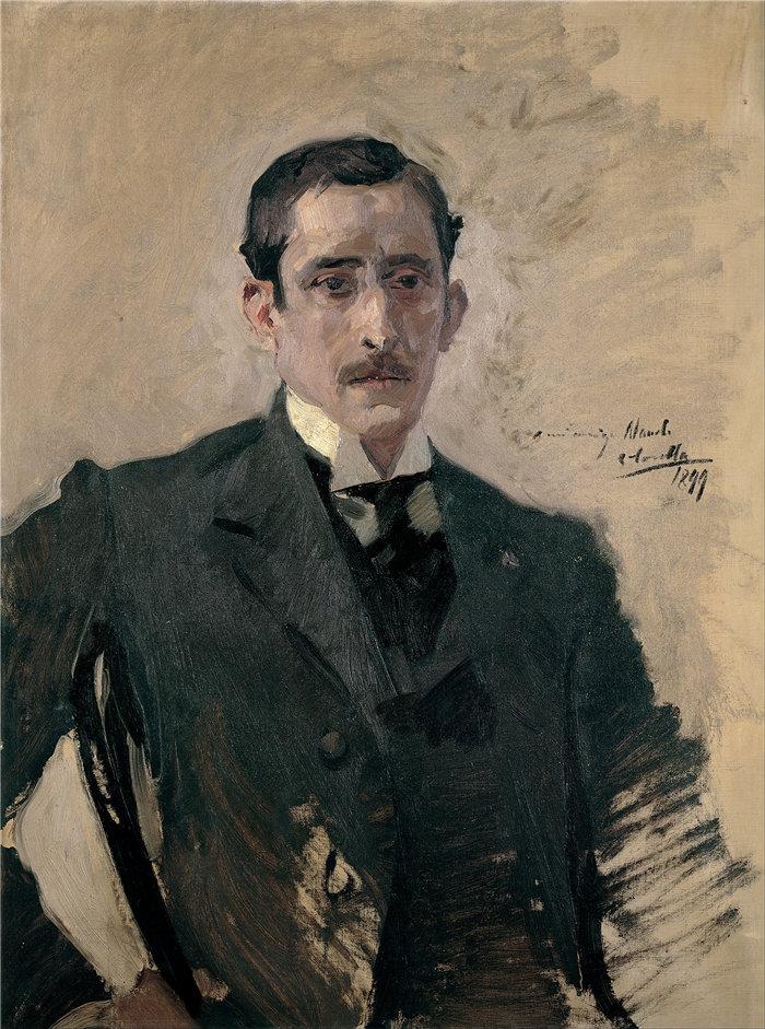 华金·索罗拉(Joaquin Sorolla,西班牙画家)作品-肖像