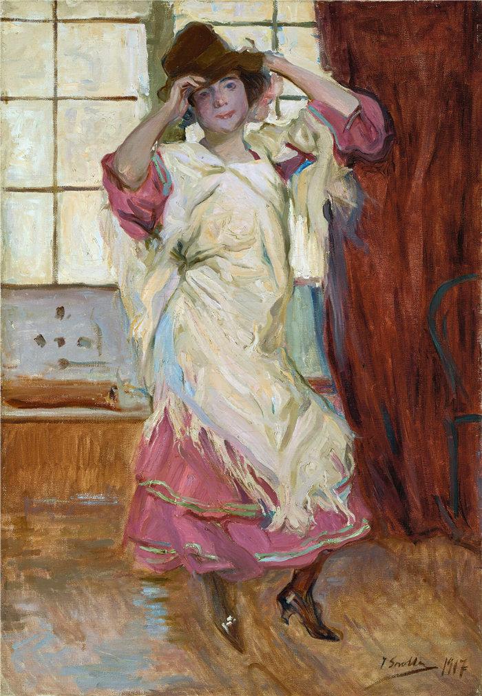 华金·索罗拉(Joaquin Sorolla,西班牙画家)作品-拉比尔贝尼塔(1917)