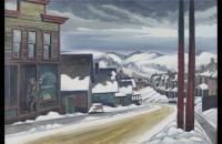 查尔斯·埃弗莱姆·伯奇菲尔德(Charles Ephraim Burchfield)-冬天,东利物浦,1927年 美国油画