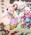 构图丰富,色调艳丽的苏州桃花坞年画