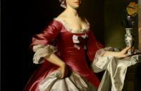 约翰·辛格尔顿·科普利(John Singleton Copley)-乔治·沃森夫人  1765年油画
