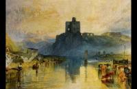 约瑟夫·马洛德·威廉·特纳(Joseph Mallord William Turner)-诺勒姆城堡(1823)水彩