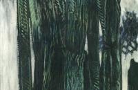 马克斯·恩斯特(Max Ernst)-Époque des forêts(森林时代),1926 年 德国油画