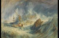 约瑟夫·马洛德·威廉·特纳(Joseph Mallord William Turner)-风暴,沉船1823水彩