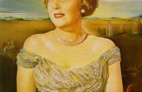 萨尔瓦多·达利(Salvador Dali)-吉斯兰·奥特利蒙特女伯爵肖像1960作品