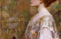 阿尔伯特·赫特(Albert Herter)-《红发女人》  1894年