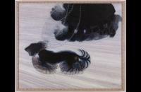 贾科莫·巴拉(Giacomo Balla)-Dinaismo di un cane al guinzaglio(拴狗的活力),1912年油画 意大利