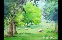水彩羊群的画法