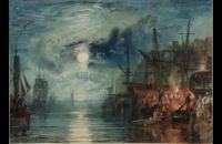 约瑟夫·马洛德·威廉·特纳(Joseph Mallord William Turner)-盾牌,在泰恩河上1823水彩