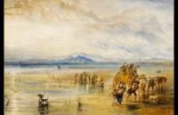 约瑟夫·马洛德·威廉·特纳(Joseph Mallord William Turner)-兰开斯特金沙1828水彩