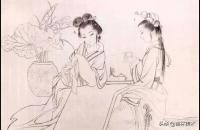 工笔传统仕女《品茗图》绘画步骤示范解析