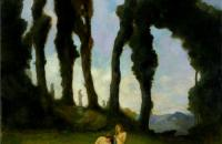 查尔斯·沃尔特·斯特森(Charles Walter Stetson)-《沐浴后》  1910年
