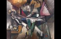 阿尔伯特·格莱兹(Albert Gleizes)-L'Homme au hamac(吊床上的人),1913 年油画 法国