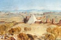 约瑟夫·马洛德·威廉·特纳(Joseph Mallord William Turner)-1820年来自蒙特·泰斯塔乔(Monte Testaccio)的罗马水彩