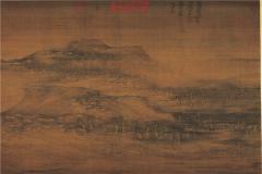 巨然层岩丛树图高清图片下载