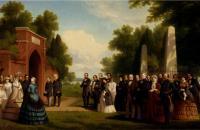 托马斯·P·罗西特(Thomas P. Rossiter)-威尔士亲王,布坎南总统和贵族访问 1861年